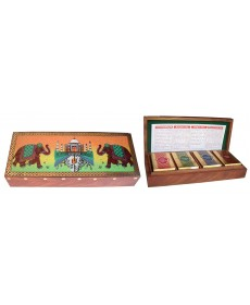 Gift Pack Taj Wooden Box (4 in 1) DJ/AS/NL/RM 25g Each