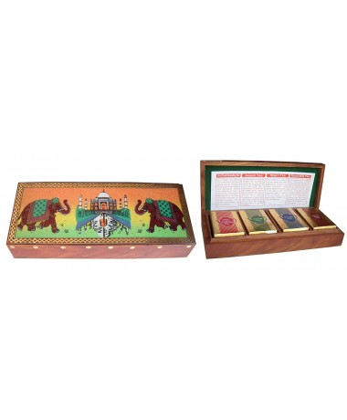 Gift Pack Taj Wooden Box (4 in 1) 25gm Each