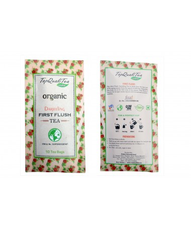 Organic Darjeeling First Flush Tea  (10 individually wrapped leaf teabags)