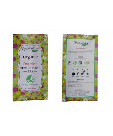 Organic Darjeeling Second Flush Tea (10 individually wrapped leaf teabags)