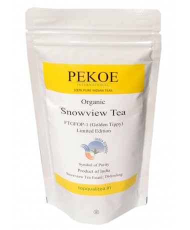 ORGANIC Darjeeling Snowview Tea FTGFOP-1 Limited Edition 100gm