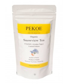 ORGANIC Darjeeling Snowview Tea FTGFOP-1 Limited Edition 50gm