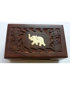 Gift Pack Wood Box (Full Carving) Darjeeling Tea 100gm